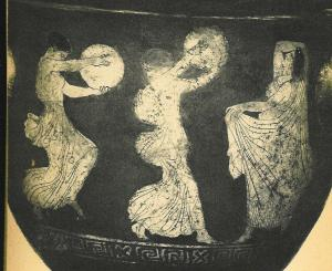 Ancient Greek worship of Bacchus with tambourines Image: artship.org