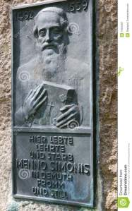 Menno's grave at Bad Oldesloe, Germany