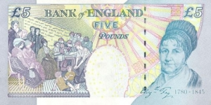 UK banknote commemorating Elizabeth Fry