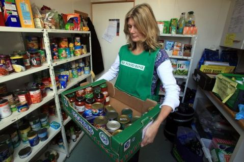 Salisbury foodbank volunteer Jill Plant