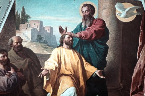 An artist's impression of St Paul commissioning Timothy