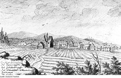 A sketch of the Herrnhut community in 1765