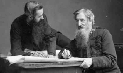 William Booth, founding General of the Salvation Army, and his appointed successor, Bramwell Booth, c.1900