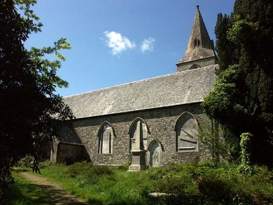 Baldhu church, Cornwall, scene of Haslam's conversion